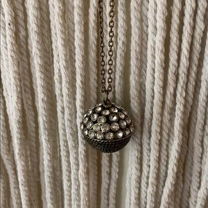 French Connection Crystal Disco Ball Necklace